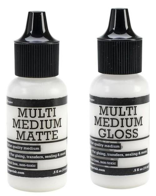 1/2 Ounce Ranger Multi Medium Gel Bottle ~ Gloss OR Matte Finish