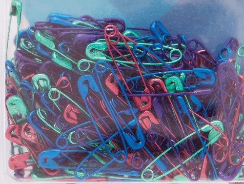 """50 Bright Colored Anodized Safety Pins Mix ~ Size 1 is 1 1/16"""" Long *"""