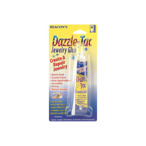 1oz Tube Beacon's Dazzle Tac Clear Quick Grab Jewelry Glue