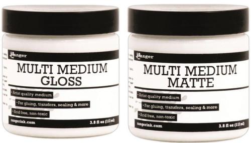 3.8 Oz Jar Ranger Artist Quality Multi Medium Gel Jar  Gloss OR Matte Finish