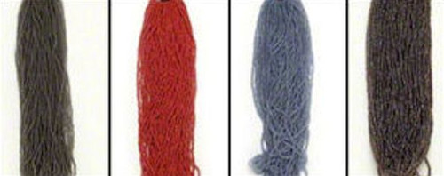 1 Hank 10/0 Seed Beads  Red, Grey, Light Blue OR Brown *