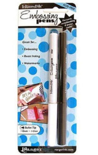 Inkssentials Acid Free Embossing Pens Bullet Tip Black & Clear  *Resist Inking &