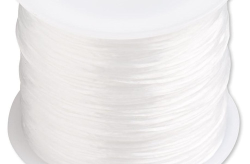 150 Foot Spool White 0.5mm Stretch Floss Latex Free Elastic Cord with 3LB Test