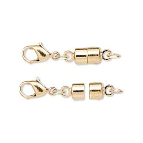 1 OR 12 Gold Plated Brass Magna Magic 25x6mm Magnetic Clasp Converters