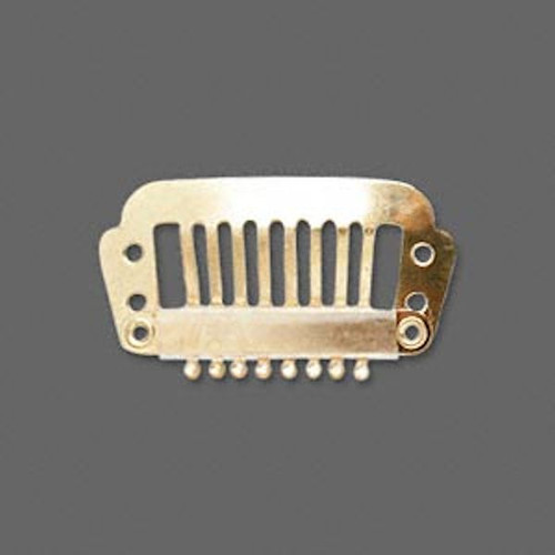 12 Gold Plated Stainless Steel Hair Combs ~ Add Charms Or Beads ~ 28x16mm *