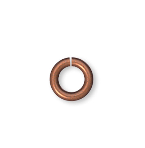 100 Antiqued Copper Plated Brass 5mm Round 19 Gauge Jumprings with 3.1mm ID