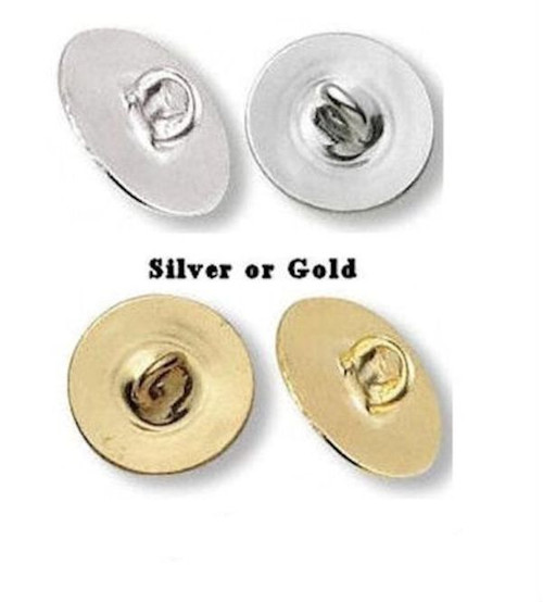 100 Gold OR Silver Plated Metal Button Backs to Make Anything a Button