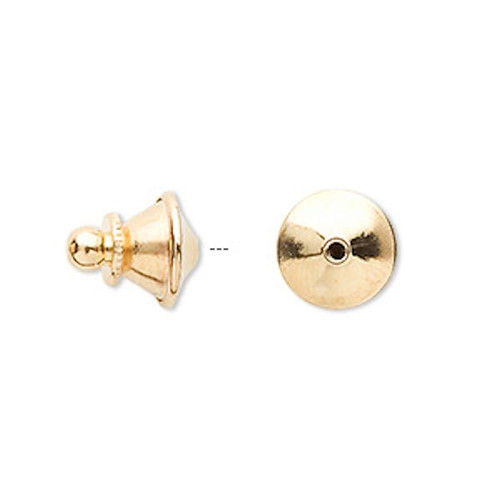 10 Gold Plated Brass 11.5x10mm Push In Tie Tacs  Lapel Clutches