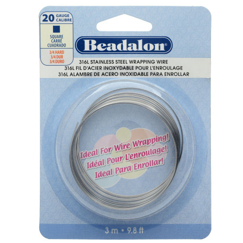 9.8 Feet Stainless Steel 20  Gauge Square Wrapping Wire