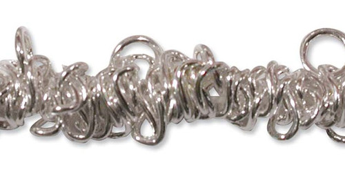 1 Silver Bungee Bracelet Stretchable Metal Chain  ~ S-T-R-E-T-C-H-able!