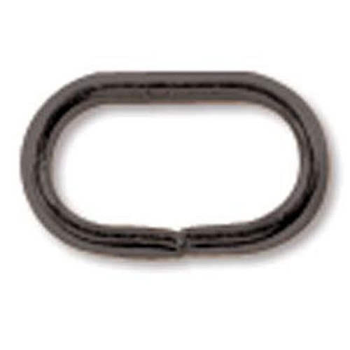 144 Black Oxide 5x8mm Flat Oval 20 Gauge Jumprings