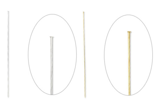 10 OR 20 Silver OR Gold Brass Hat Pin Stick Pins  8 Inches Long with Clutches