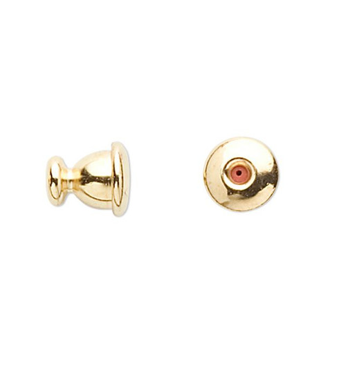 10 Gold Plated Brass 6x5.5mm Stick Pin Clutches - Open Ended