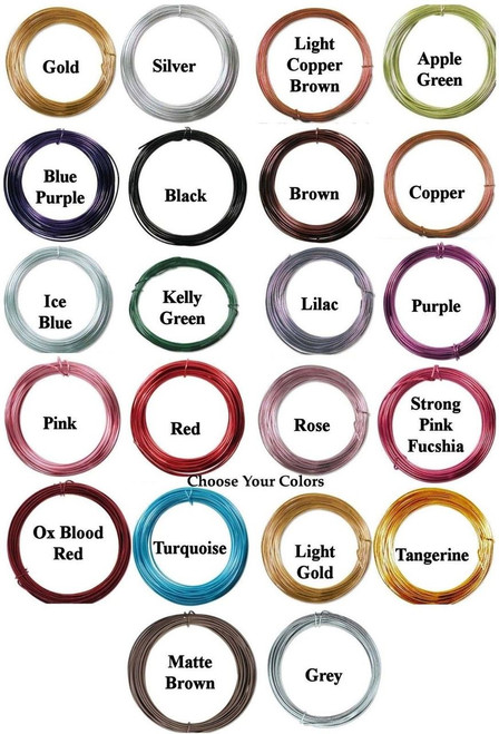 39 Feet 12 Gauge (2mm) Aluminum Wire for Wire Wrapping ~ Many Colors!