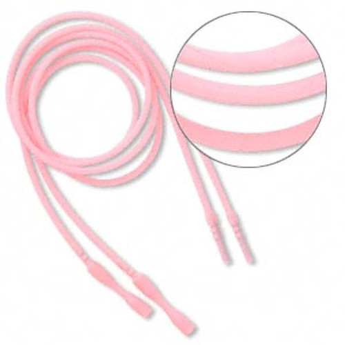 """4 Opaque Pink Silicone 18"""" Cord Necklace with Snap Closure  Just Add Pendant"""