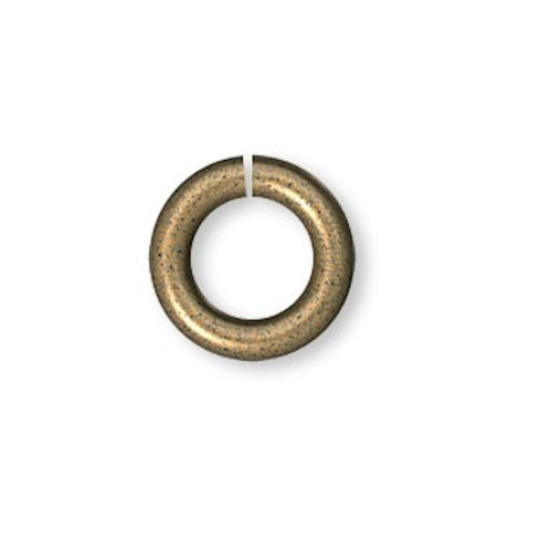 100 Antiqued Gold Plated Brass 5mm Round 18 Gauge Jumprings with 3mm ID