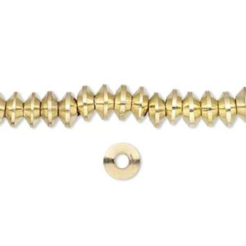 1 Strand Gold Brass Rondelle Beads ~ 6.5x3mm  *