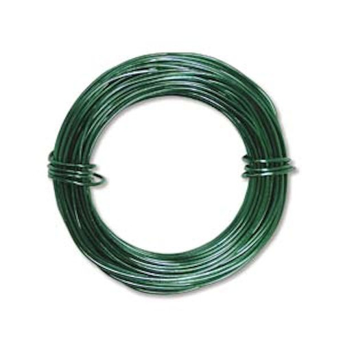 39 Feet Kelly Green 18 Gauge Aluminum Wire for Wire Wrapping