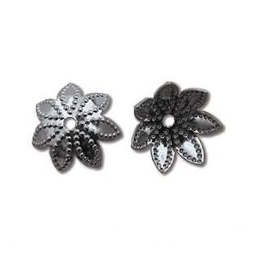 144 Black Oxide 9x3mm Star Flower Bead Caps to Fit 9-12mm Beads *