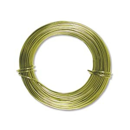 39 Feet Apple Green 18 Gauge Aluminum Wire for Wire Wrapping