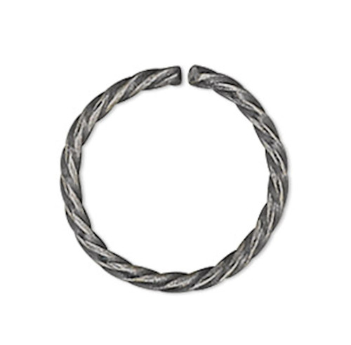 100 Antiqued Silver Plated 8mm Twisted Round  20 Gauge Jump Rings with 6.7mm ID