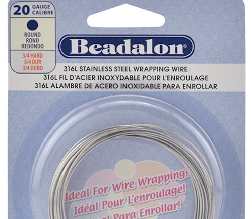 19.7 Feet Beadalon 316L Stainless Steel Round 20 Gauge Wrapping Wire