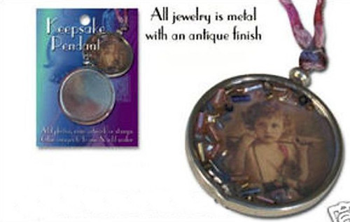 "2 Silver Keepsake Frame Pendants ~ 1 1/2"" Altered Art Jewelry *"