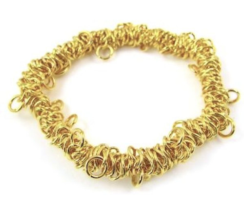 1 Gold Plated Stretchable Metal Chain Bungee Bracelet ~ Just Add Charms!