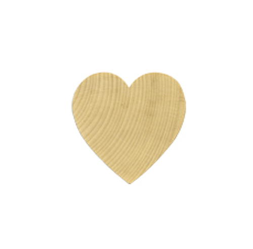 """100 Miniature Wooden Hardwood Hearts 1"""" tall x 1"""" wide x 1/8"""" thick Woodlets"""