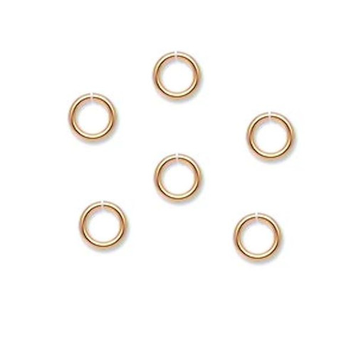 1440 Round 6mm Round Gold Plated Brass Jump Rings ~ 20 Gauge