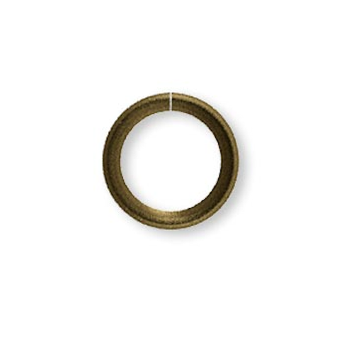 500 Antique Brass Plated Steel 4mm Round 22 Gauge Jump Rings