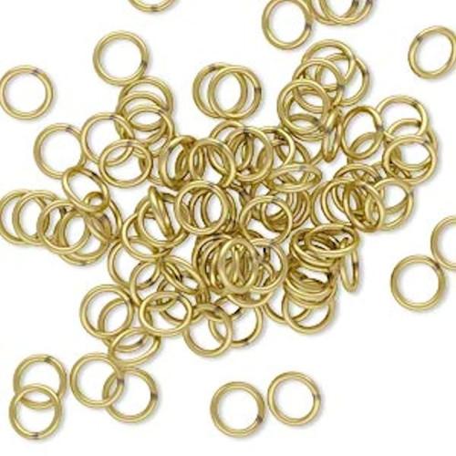 100 Gold Brass 5mm Round 20 Gauge Jump Rings