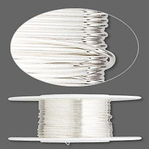 25 Foot Spool Sterling Silver 26 Gauge Dead Soft Round Wrapping Wire '