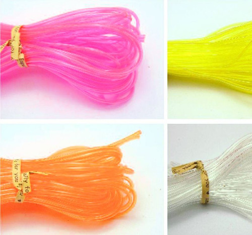 10 Meter Transparent 2mm Hollow Rubber Tubing Jewelry Cord Cover Memory Wire *