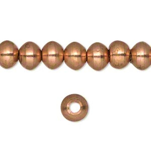 1 Strand Copper Plated Finish Brass Rondelle Beads   ~ 8x6mm  *