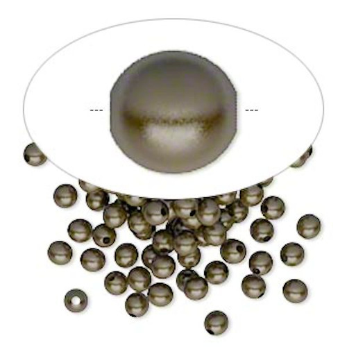100 Antiqued Brass Plated Brass 3mm Round Smooth Beads