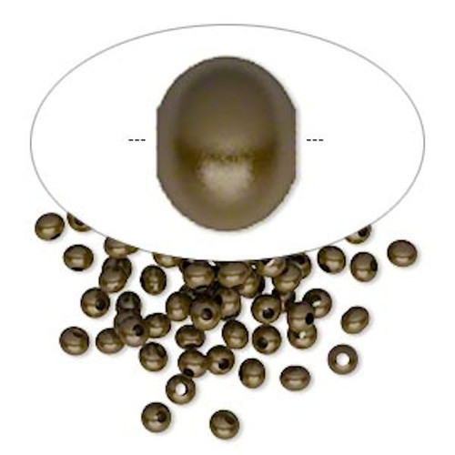 100 Antiqued Brass Plated Brass 3x2mm Rondelle Smooth Beads