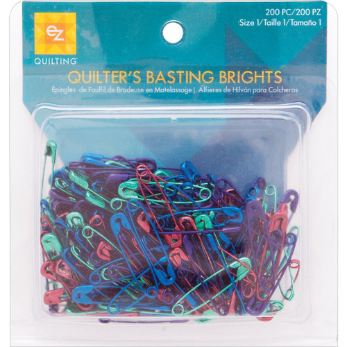 """200 Bright Colored Anodized Safety Pins Mix ~ Size 1 is 1 1/16"""" Long"""
