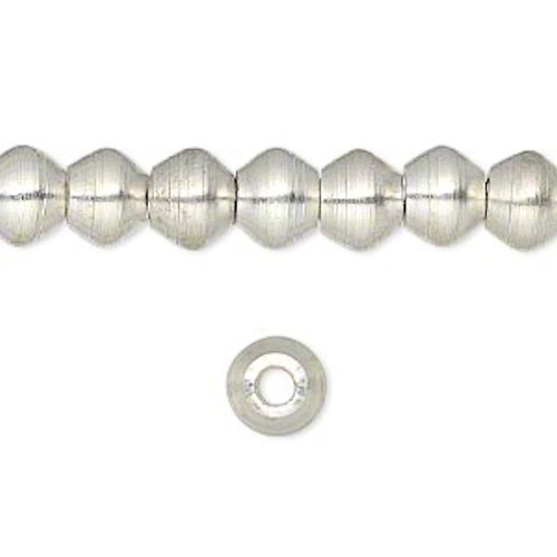 1 Strand Silver Plated Finish Brass Rondelle Beads   ~ 8x6mm  *