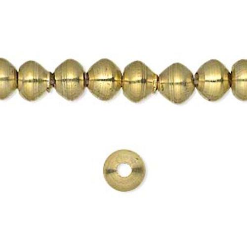 1 Strand Gold Brass Rondelle Beads   ~ 8x6mm  *