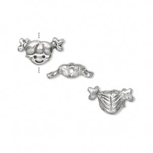 2 Antiqued Silver Plated Pewter Round Fairy Door Charms 16x16mm *