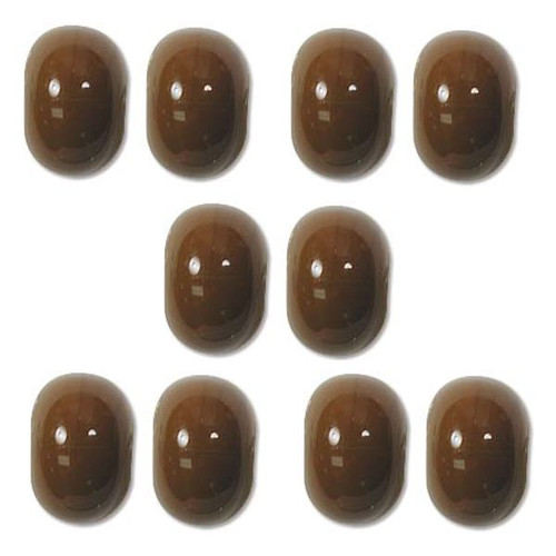 1 Strand Opaque Lampwork Glass Brown 7x11mm Rondelle Beads *