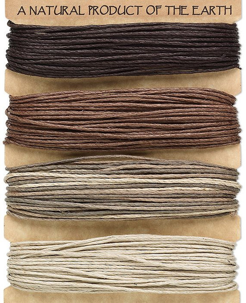 120 Foot Set 1mm 20lb TestSmooth Hemp Cord / Assorted Browns