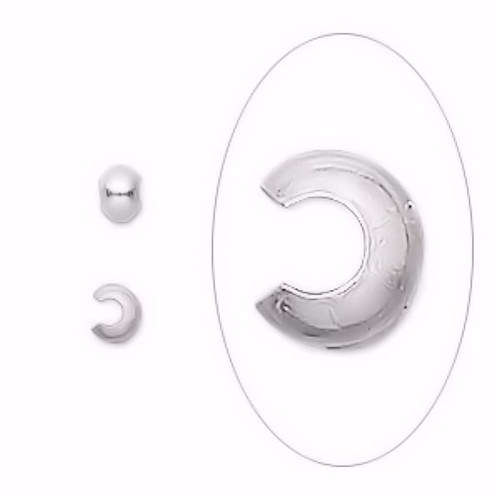 10 Sterling Silver 3mm Crimp Covers to Hide Cover Crimps & Knots