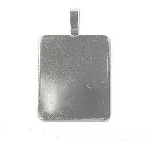 2 Large Stainless Steel Rectangular Pendant Plate Bails ~ 31x38mm *  *