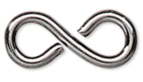 100 Gunmetal Plated Brass 7x3mm Figure 8 Link Connectors