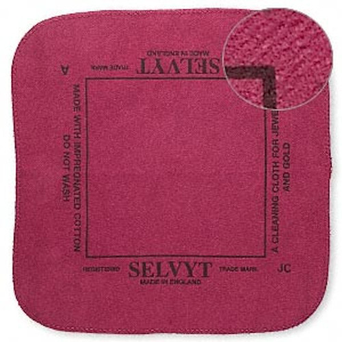 1 Selvyt Red Polishing Cloth to Quickly Clean Sterling, Gold & Precious Metal Jewelry