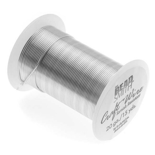 15 yard Spool BeadSmith Tarnish Resistant 20 Gauge Silver 1/2 Hard Wrapping Wire