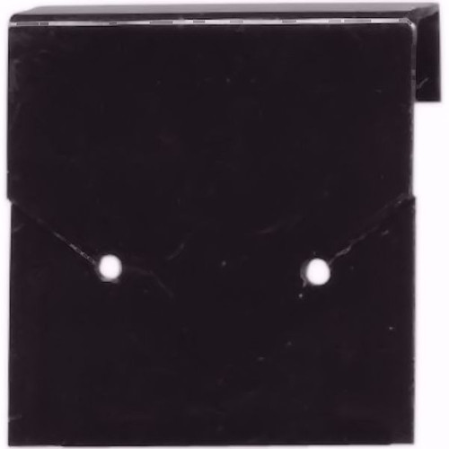 "10 Earring Display Cards ~ Black UnFlocked  ~ 1x1"" Square"
