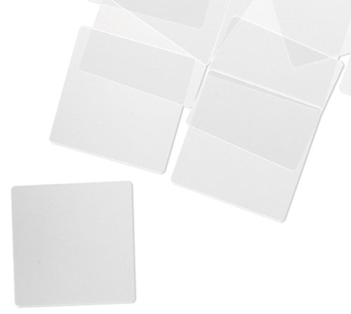 20 Clear Altered Art Flat Art Glass 1x1 Inch Squares with Grounded Edges